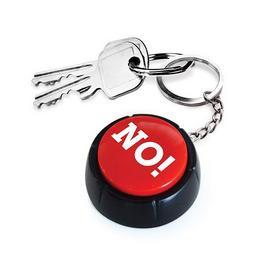 NO! - Gomb Kulcstartó