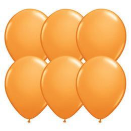 Narancssárga Kerek Lufi - 28 cm, 6 db-os
