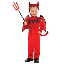 Ördög Jelmez Gyerekeknek Halloween-re, 3-4 Éveseknek