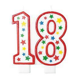 Óriás 18-as Csillámos - Csillogó Csillag Mintás Szülinapi Parti Számgyertya