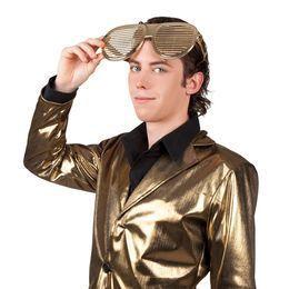 Óriás Arany Rácsos Parti Szemüveg