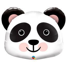 Mosolygó Kedves Panda Fej Héliumos Fólia Lufi, 79 cm