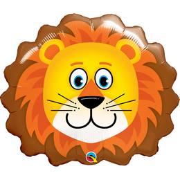 29 inch-es Oroszlán Fej - Lovable Lion Héliumos Fólia Lufi