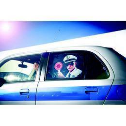 Rendőrség Autós Napellenző