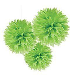 Zöld Bolyhos Függő Dekoráció
