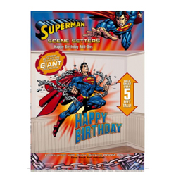Superman Happy Birthday Faldíszlet - 165 cm x 85 cm