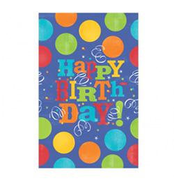 Birthday Fever Szülinapi Parti Asztalterítő - 137 cm x 259 cm