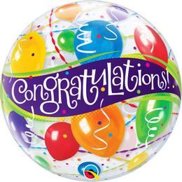 22 inch-es Congratulations Balloons - Gratulálunk Héliumos Bubble Lufi