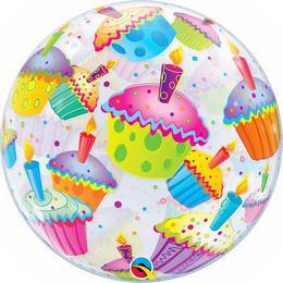 22 inch-es Muffinos - Cupcakes Héliumos Bubble Lufi