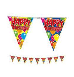Szülinapi Zászlófüzér Happy Birthday Felirattal