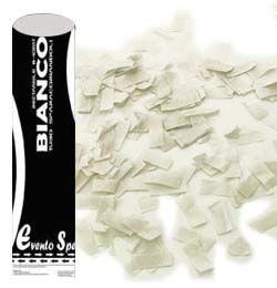 60 cm-es, Fehér Színű Papír Téglalapokat Kilövő Konfetti Ágyú