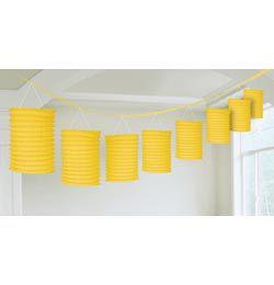Sárga Lampionfüzér Függő Dekoráció