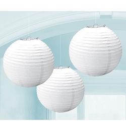 Fehér Színű Gömb Lampion - 3 db