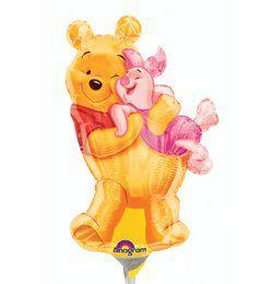 Micimackó - Big Pooh Hug - Mini Shape Fólia Lufi Pálcán