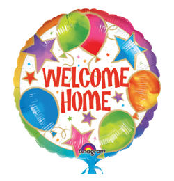 Héliumos Fólia Lufi - Welcome Home Celebration, 46 cm