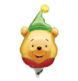 Micimackó - Pooh Party Hat - Mini Shape Fólia Lufi Pálcán