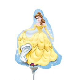 Hercegnős - Disney Princess Belle - Mini Shape Fólia Lufi Pálcán