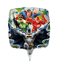 9 inch-es Hősök - Justice League - Fólia Lufi Pálcán