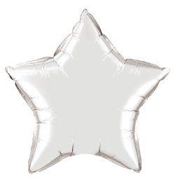 20 inch-es Ezüst - Silver Csillag Héliumos Fólia Lufi