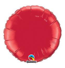 18 inch-es Ruby Red - Rubinvörös Kerek Héliumos Fólia Lufi