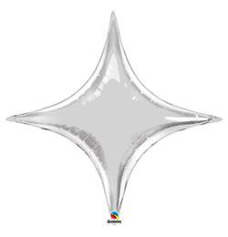 20 inch-es Ezüst - Starpoint Silver Fólia Lufi