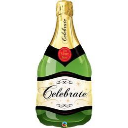 39 inch-es Pezsgősüveg - Champagne Bottle Celebrate Héliumos Fólia Lufi