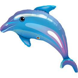 Kék Delfin Héliumos Fólia Lufi, 107 cm