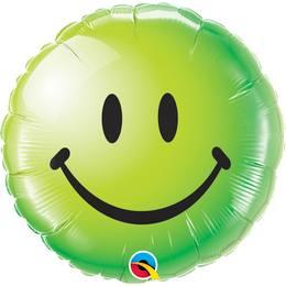 Smile Face Héliumos Fólia Lufi - Mosolygó Arc, Zöld, 46 cm