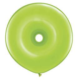 16 inch-es Lime Green Donut Lufi (25 db/csomag)