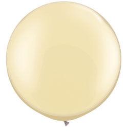 30 inch-es Pearl Ivory Kerek Latex Lufi (2 db/csomag)