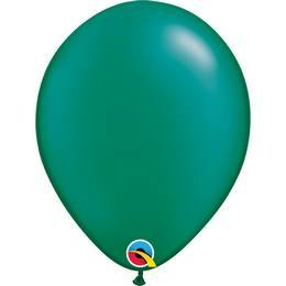 11 inch-es Pearl Emerald Green Kerek Lufi (25 db/csomag)