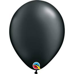 11 inch-es Pearl Onyx Black Kerek Lufi (25 db/csomag)