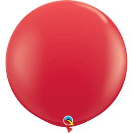 3 feet-es Red (Standard) Kerek Latex Lufi (2 db/csomag)