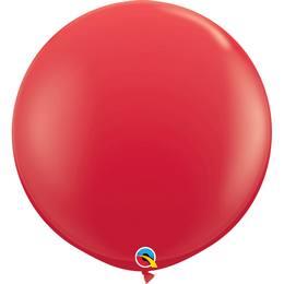 3 feet-es Red (Standard) Kerek Latex Lufi (2 db/csomag)