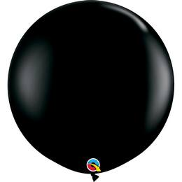3 feet-es Onyx Black (Fashion) Kerek Latex Lufi (2 db/csomag)