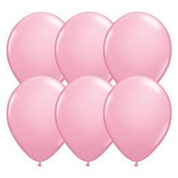 Pink - Rózsaszín Kerek (Latex) Gumi Lufi - 28 cm, 25 db