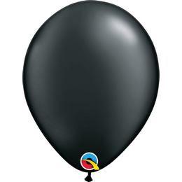 Fekete Lufi - Metál, 28 cm, 100 db