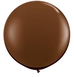 3 feet-es Chocolate Brown (Fashion) Kerek Latex Lufi (2 db/csomag)