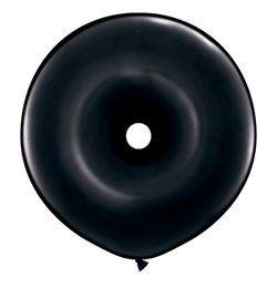 16 inch-es Black Donut Lufi (25 db/csomag)