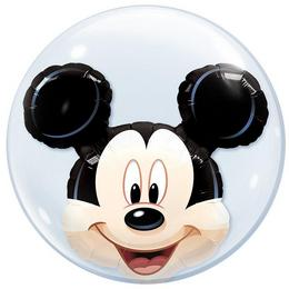 24 inch-es Disney Mickey Mouse Double Bubble Héliumos Lufi