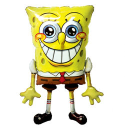 Spongyabob Kockanadrág - SpongeBob SquarePants - Sétáló Héliumos Lufi