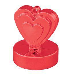 Piros (Red) Szíves Léggömbsúly - 110 gramm