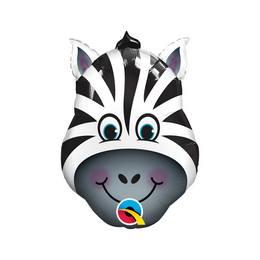 14 inch-es Zany Zebra - Zebra Fej Fólia Lufi Pálcán