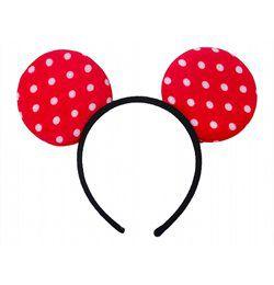 Minnie Mouse Piros Pöttyös Fejdísz