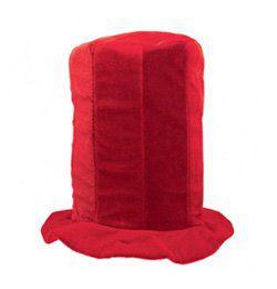 Piros Színű Drukker Parti Kalap