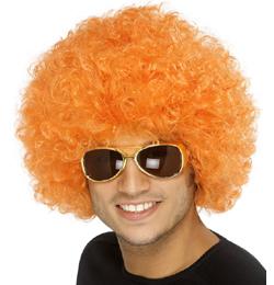 Narancs Funky Afro - Mikrofon Parti Paróka
