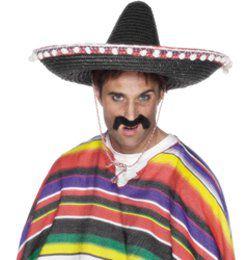 Mexikói Sombrero Kalap - Fekete