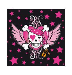 Kalózlány - Pirate Girl - Parti Szalvéta - 33 cm x 33 cm, 20 db-os