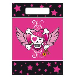 Kalózlány - Pirate Girl - Parti Ajándékzacskó - 8 db-os