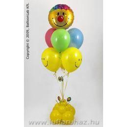 Smile Mosolygós Lufi Csokor Dekoráció Születésnapra - 160 cm-es